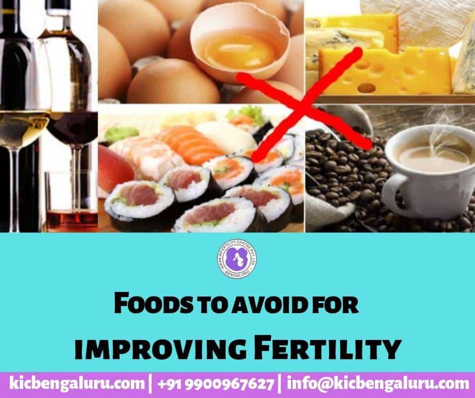 Foods to avoid for improving fertility