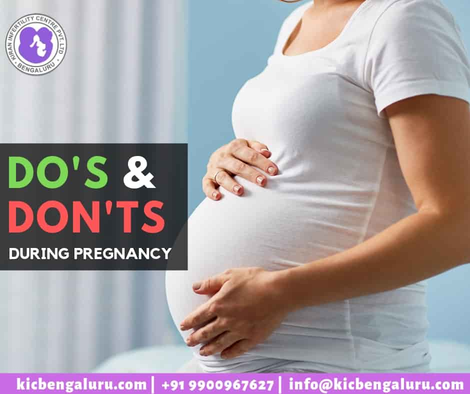 Do's and Dont's during pregnancy