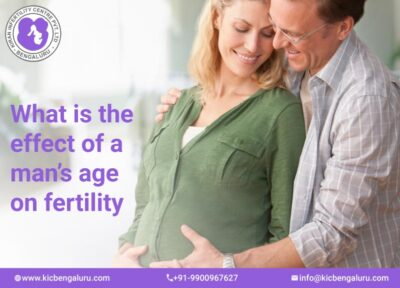 What is the effect of a man's age on fertility
